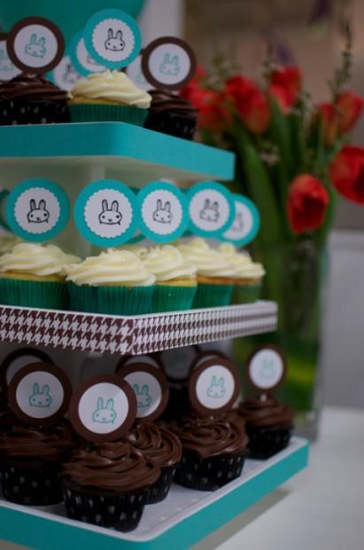 Bunny Baby Boy Shower Cupcakes Hello Nutritarian