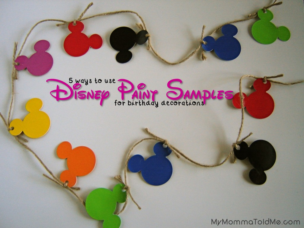 DIY Mickey Mouse Birthday Decorations