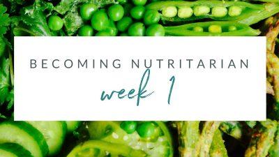 Week 1 Becoming nutritarian weight loss journal Dr Furhman Eat to Live 6 week plan Dr Greger How not to Die Diet no oil no added salt reverse diabetes