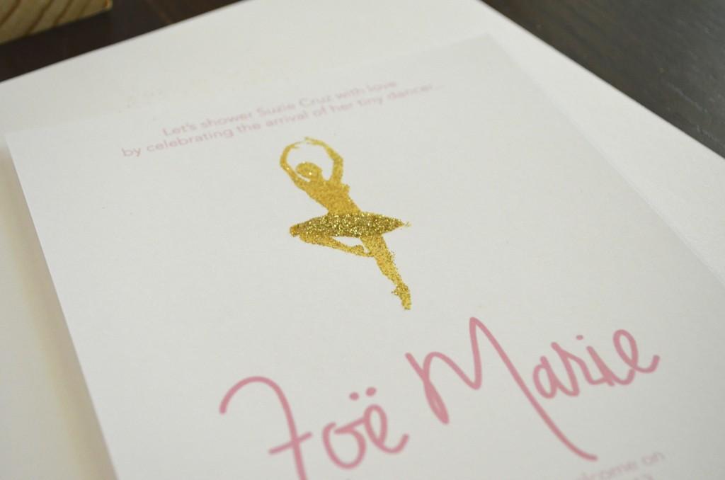 Ballerina Baby Shower Invitations // MyMommaToldMe.com