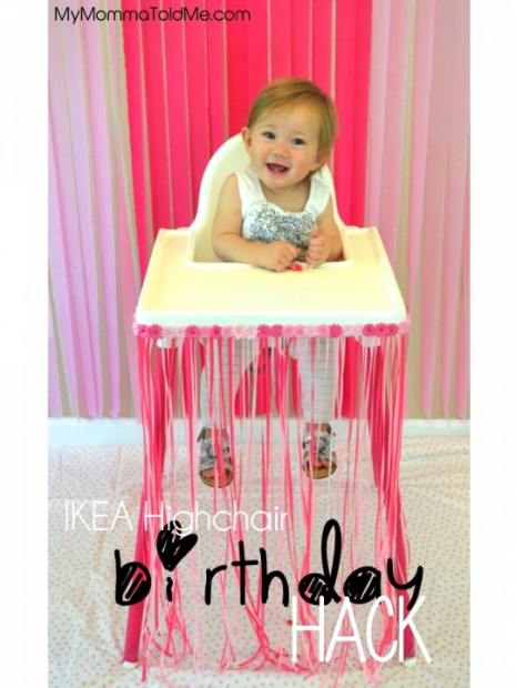 Diy Birthday Highchair Decorations Hello Nutritarian