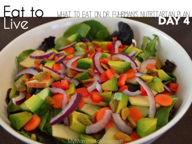 Eat to Live: What I Ate on Day 4 of Dr. Fuhrman's Plan // MyMommaToldMe.com