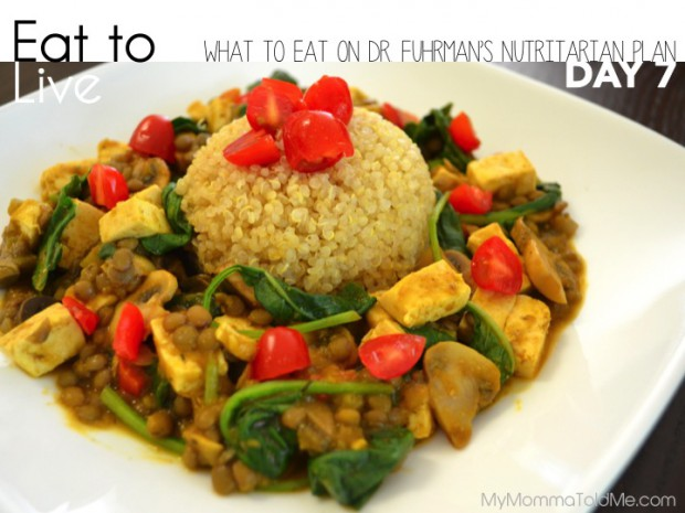 Eat to Live Plan by Dr. Fuhrman What i Ate in Day 7 // MyMommaToldMe.com