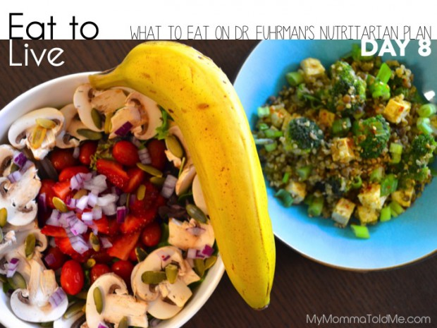 What I Ate on Day 8 of Dr. Fuhrman's Eat to Live Plan // MyMommaToldMe.com