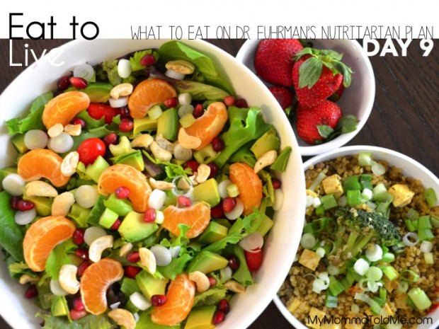 Eat to Live: What I Ate on Day 9 of Dr. Fuhrman's Plan // MyMommaToldMe.com