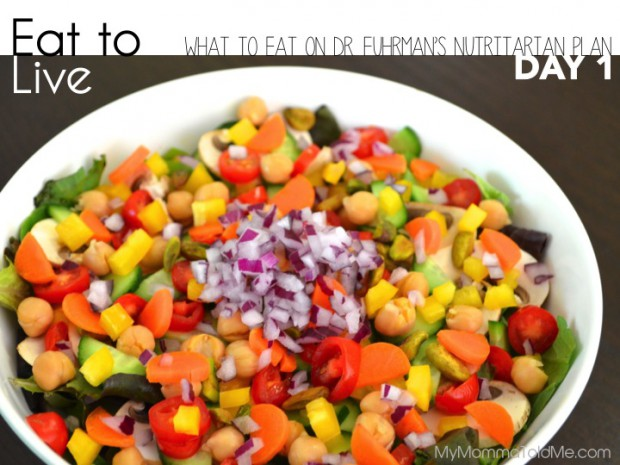 What to eat on Day 1 of the Eat to Live Plan // MyMommaToldMe.com