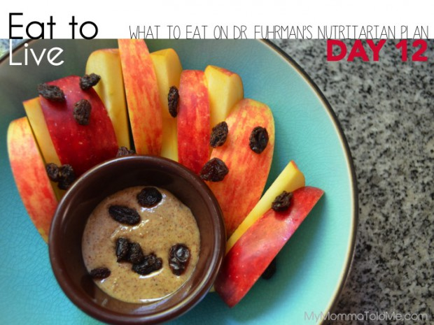 Day 12 What to eat on Dr Fuhrman Eat to Live Plan Nutritarian Day 12