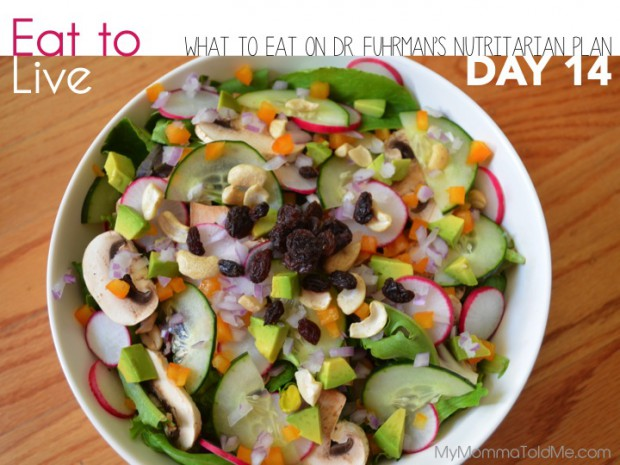 Becoming Nutritarian Day 14 What to eat on Dr Fuhrman Eat to Live Plan