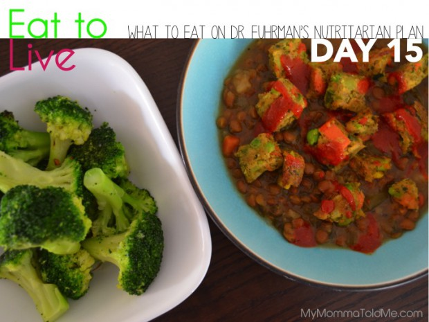 Day 15 What to eat on Dr Fuhrman Eat to Live Plan