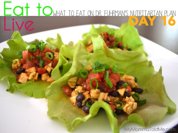 Day 16 What to eat on Dr Fuhrman Eat to Live Plan Nutritarian