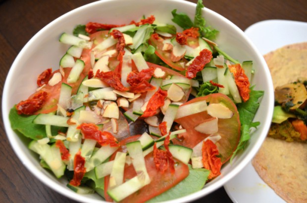 Dinner salad for day 14 of Dr Fuhrman Nutritarian diet plan MyMommaToldMe.com