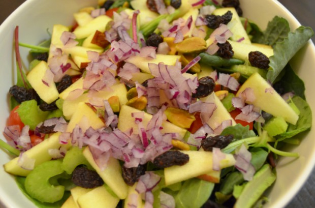 Dinner salad on Dr Fuhrman Eat to Live Nutritarian plan MyMommaToldMe.com