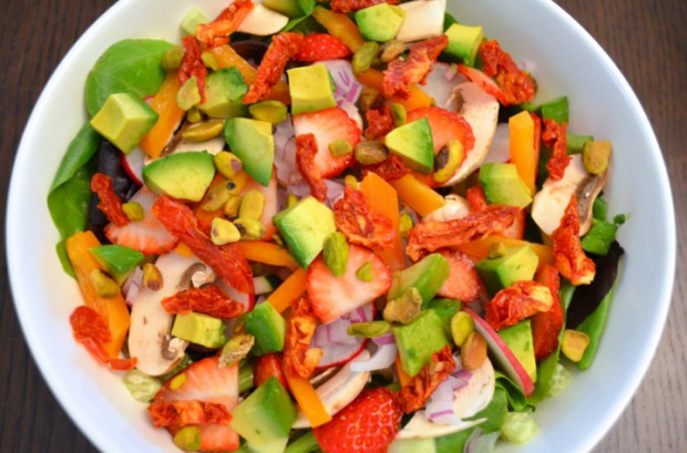 Dinner salad remember salad is the main course on dr fuhrman eat to live plan nutritarian