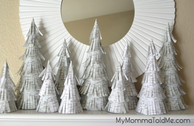 DIY Birch Trees Christmas Decorations // My Momma Told Me