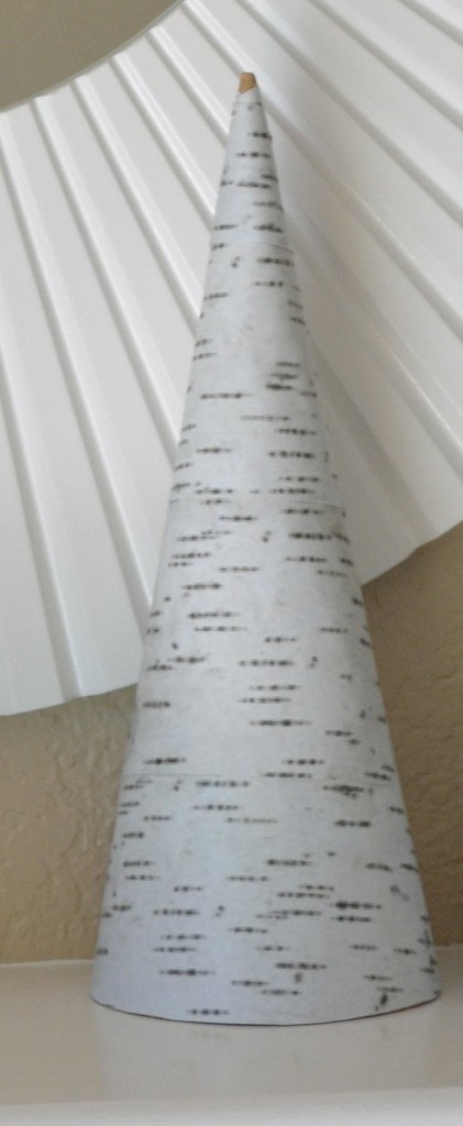 Birch Trees smooth covered cone DIY Christmas Birch Trees Tutorial