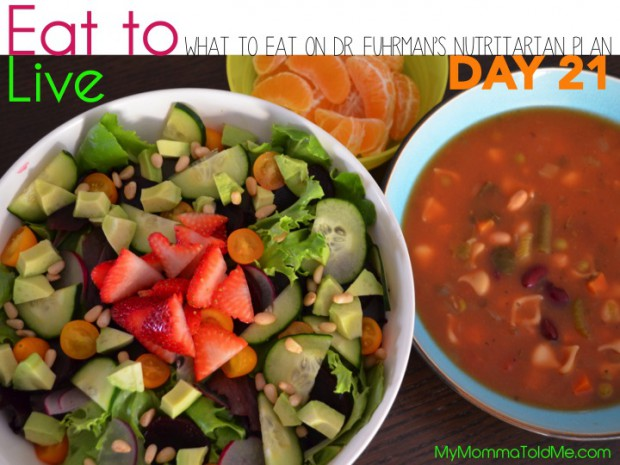 Day 21 What to eat on Dr Furhman eat to live nutritarian plan