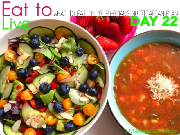 Day 22 What to eat on Dr Furhman eat to live nutritarian plan