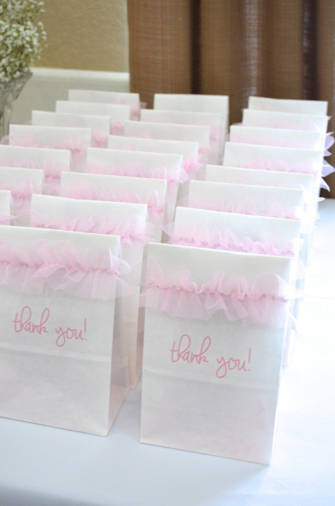 Pink Ballerina Baby Shower DIY Take home Goody bags // MyMommaToldMe.com