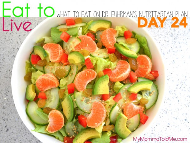 Day 24 What to eat on Dr Furhman eat to live nutritarian plan