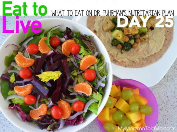 Day 25 What to eat on Dr fuhrman eat to live nutritarian plan