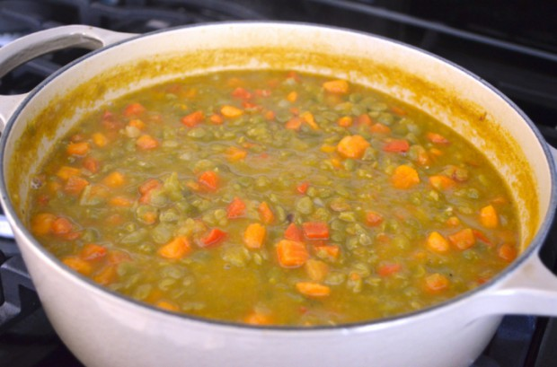 Eat to Live Split Pea Soup what I ate for dinner on day 24 of Dr Fuhrmans Eat to Live plan MyMommaToldMe.com