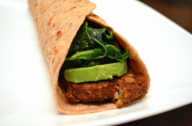 Kale avocado and quinoa patty wrap eat to live nutritarian MyMommaToldMe.com
