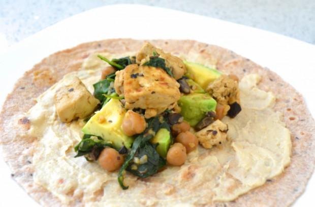 garbanzo kale and tofu wrap MyMommaToldMe.com