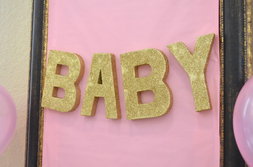 DIY paper mache baby shower sign // MyMommaToldMe.com