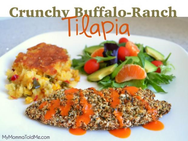 Crunchy Baked Buffalo Ranch Tilapia Recipe