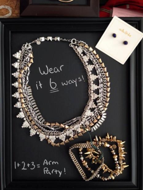 DIY Stella & Dot Chalkboard Jewelry Display by Jessica Gunn