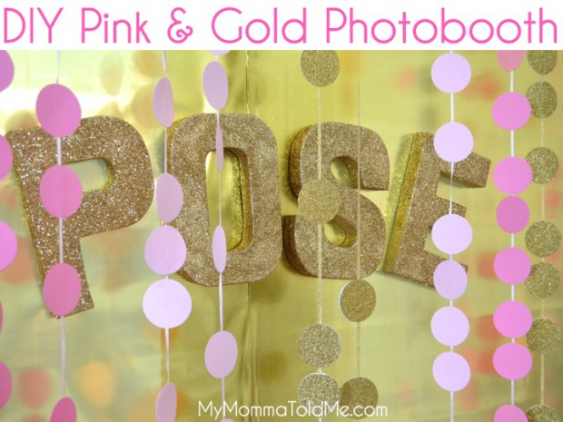 Pink and Gold Photo booth