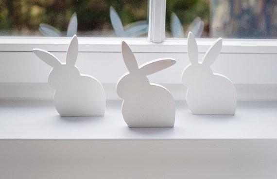 Etsy easter finds wooden bunnies decor BotanikaStudio