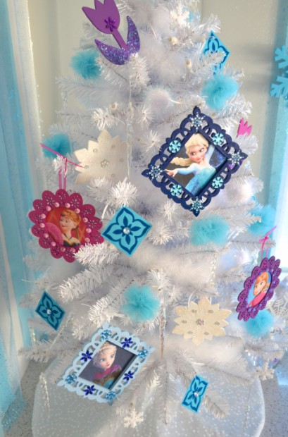 Disney Frozen Christmas Tree small white tree side view :: MyMommaToldMe.com