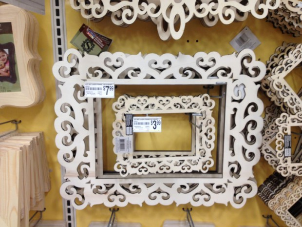 Michael's Laser Cut unfinished wooden frames