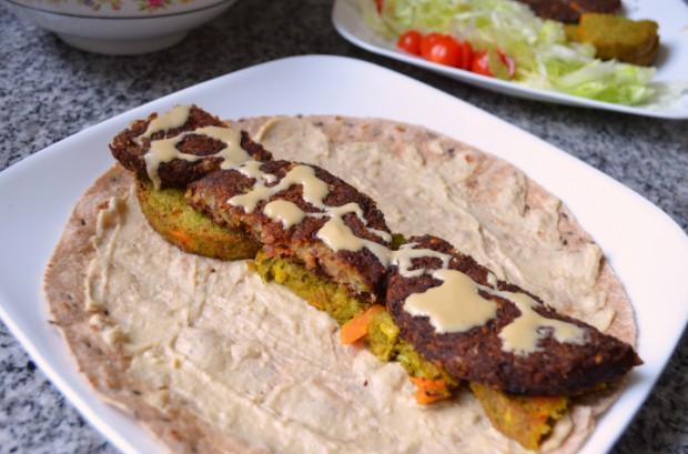 Eat to Live Falafel Wrap Recipe MyMommaToldMe.com