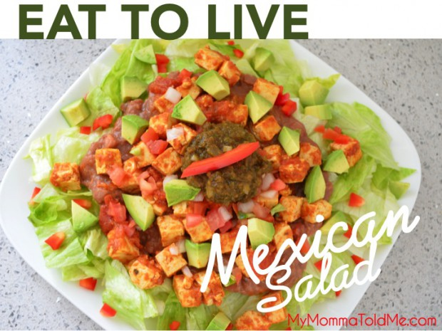 Eat to Live Mexican Salad Recipe High Fiber and High Protein
