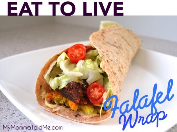 Eat to Live friendly Falafel Wrap recipe