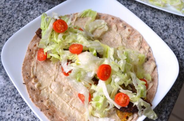 Nutrutarian Falafel Wrap recipe MyMommaToldMe.com