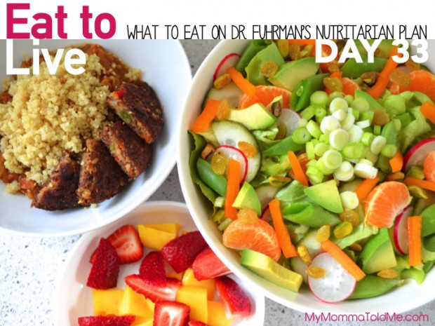 Day 33 What I ate on dr fuhrman 6 week eat to live plan