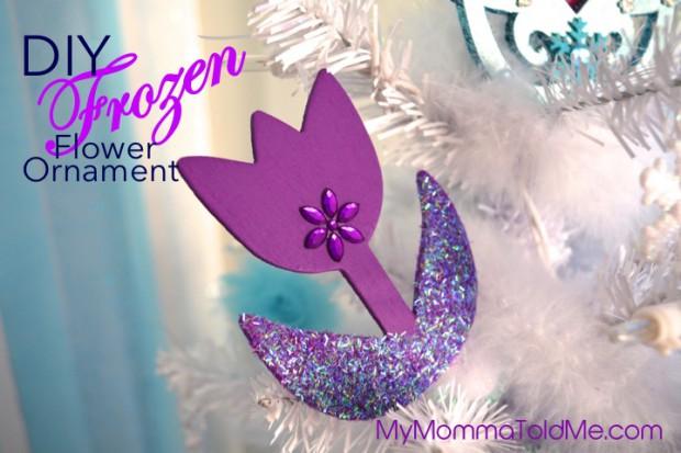 Disney Frozen inspired Wooden frozen Flower christmas tree ornament