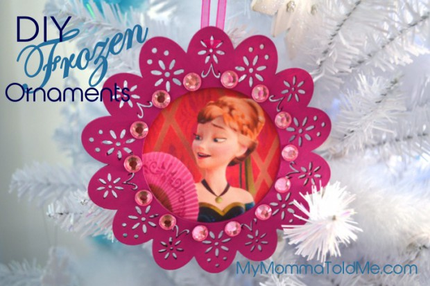 Easy DIY Disney Frozen Christmas Ornament Craft