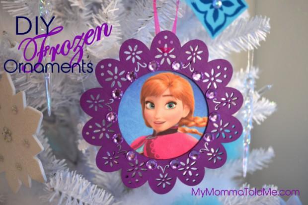 Easy Disney Frozen Christmas Ornaments