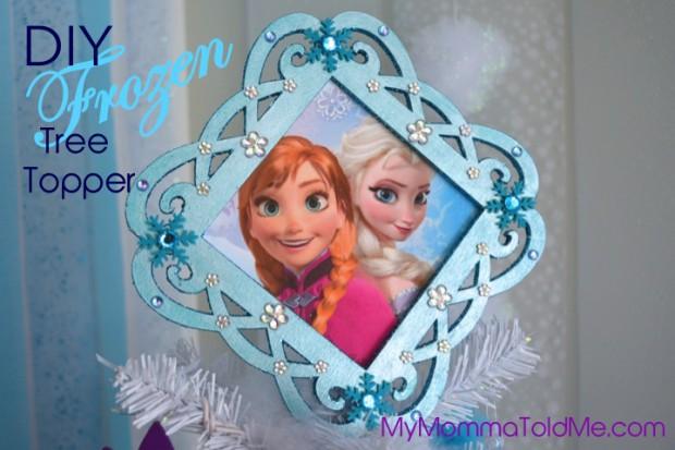 Easy Disney Frozen Christmas Tree topper DIY