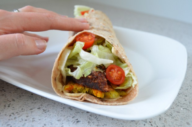 Eat to Live Falafel Wrap Nutritarian Diet