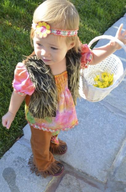toddler girl 60s flower girl hippie costume ideas MyMommaToldMe.com