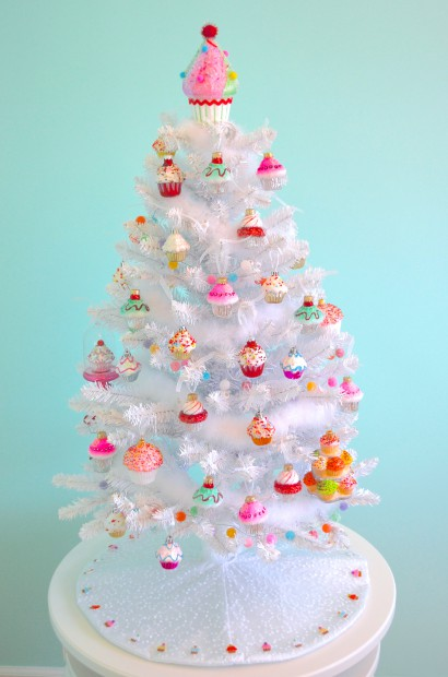 cupcake themed christmas tree