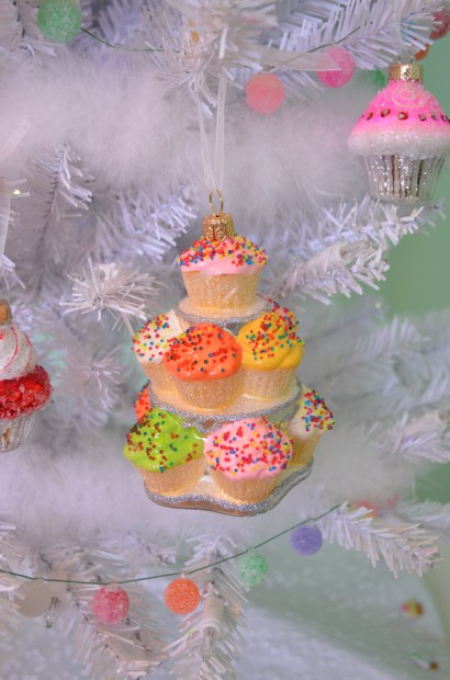 Cupcake tower by Sur la Table Cupcake Christmas tree ornament MyMommaToldMe.com