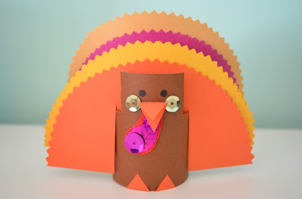 Toilet Tube Craft Cute Paper Turkey Thanksgiving Craft by MyMommaToldMe.com