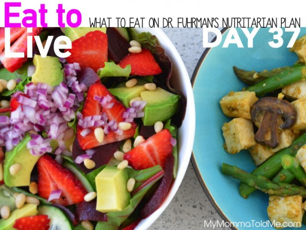 Day 37 What to Eat on Dr Fuhrman Eat to Live Nutritarian Plan menu ideas