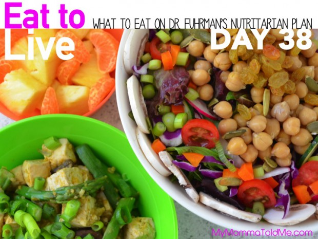 Day 38 What to eat on Dr Fuhrmans Eat to Live Nutritarian plan